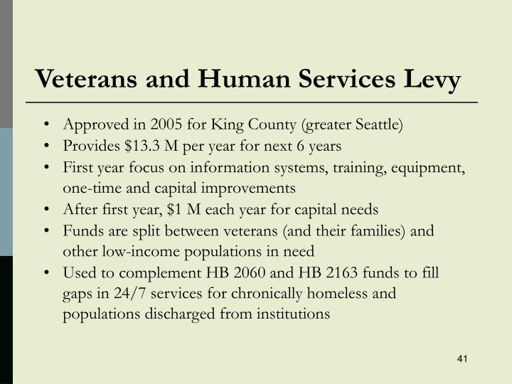 Veterans and Human Services Levy