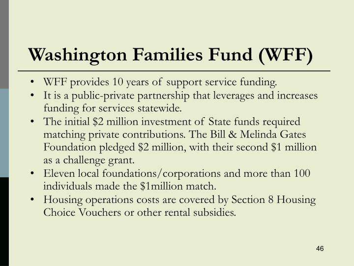 Washington Families Fund (WFF)
