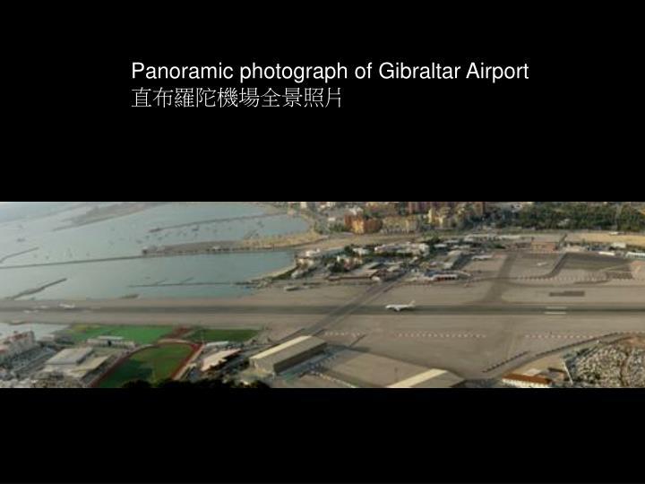 Panoramic photograph of Gibraltar Airport