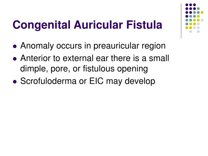 Congenital Auricular Fistula