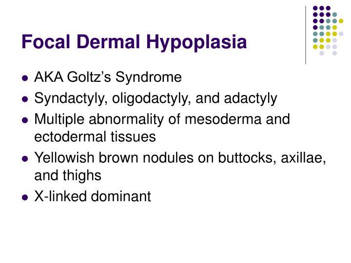 Focal Dermal Hypoplasia
