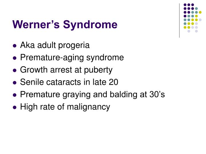 Werner's Syndrome