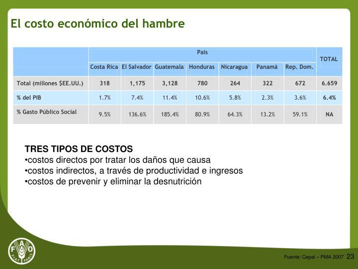 El costo económico del hambre
