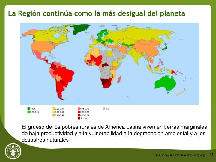 La Región continúa como la más desigual del planeta