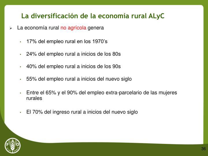 La diversificación de la economía rural ALyC