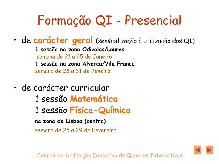 Formação QI - Presencial