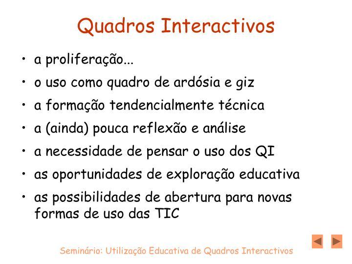 Quadros Interactivos
