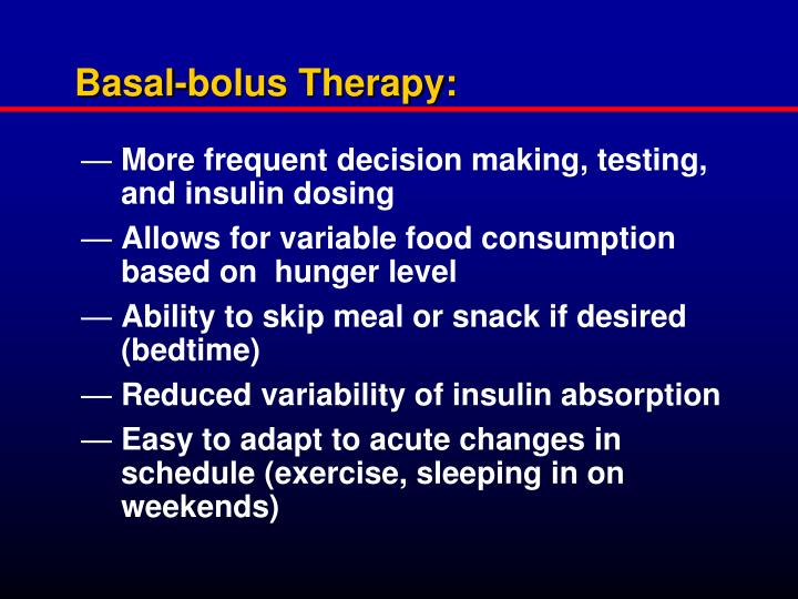 Basal-bolus Therapy: