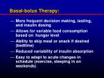 basal bolus therapy