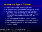 incidence of type 1 diabetes