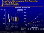 long term microvascular risk reduction in type 1 diabetes combined dcct edic