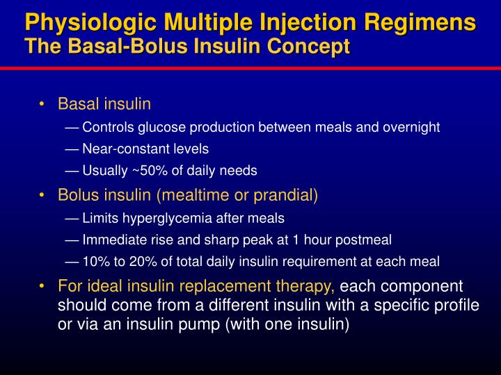 Physiologic Multiple Injection Regimens