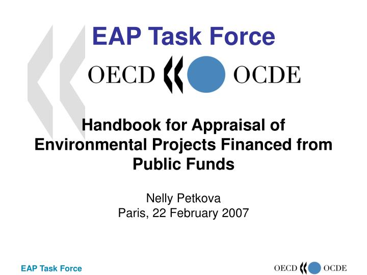 Handbook for appraisal of environmental projects financed from public funds