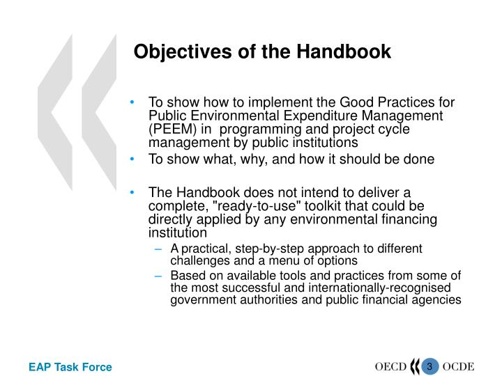 Objectives of the handbook