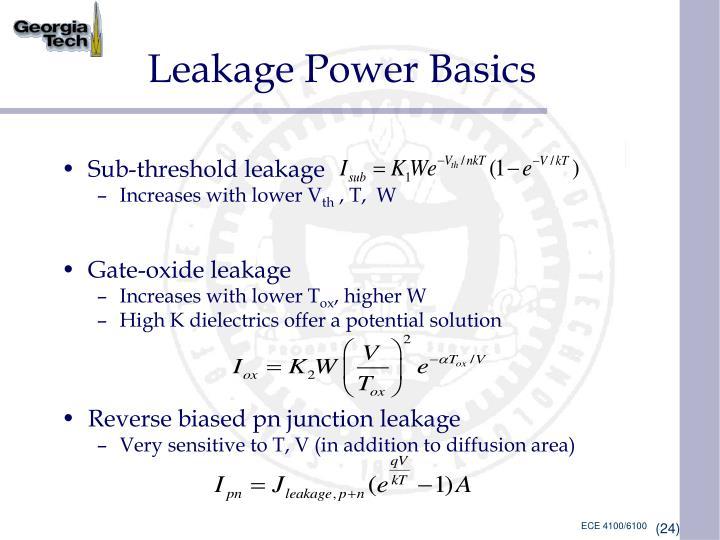 Leakage Power Basics