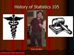 history of statistics 1052