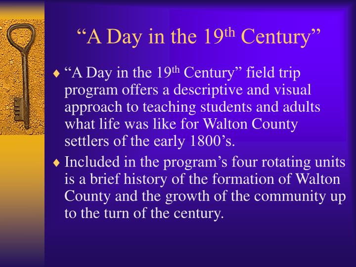 """""""A Day in the 19"""