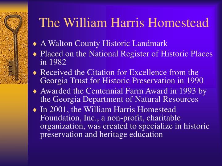 The William Harris Homestead