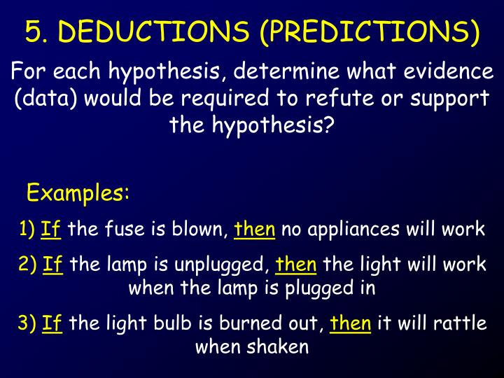 5. DEDUCTIONS (PREDICTIONS)