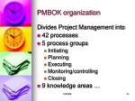pmbok organization