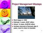 project management missteps