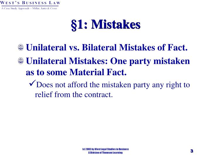 1 mistakes