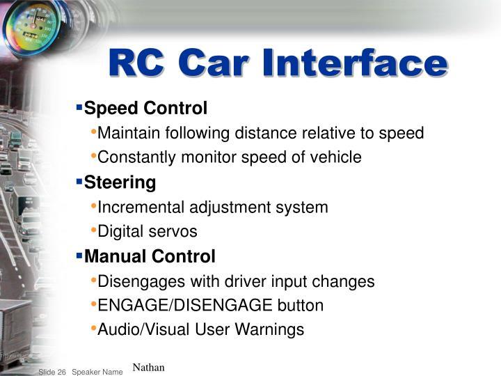RC Car Interface