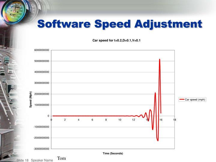 Software Speed Adjustment