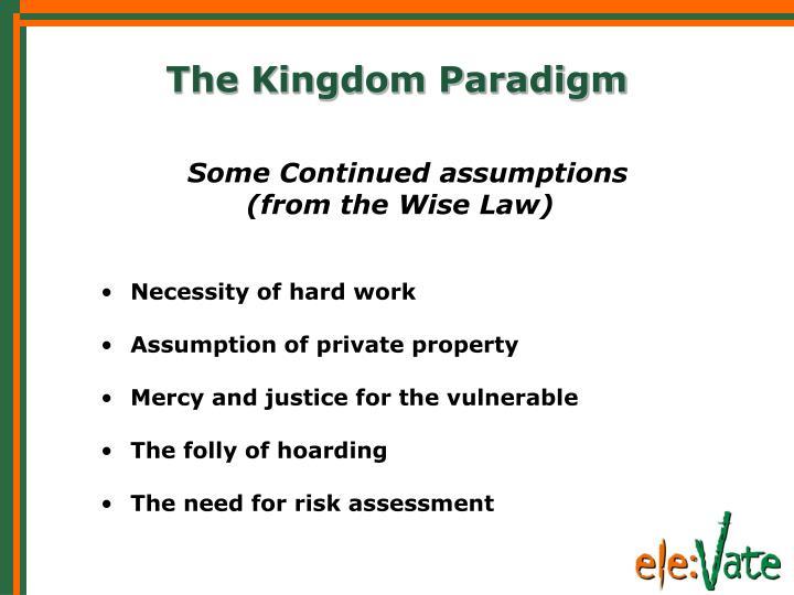 The Kingdom Paradigm