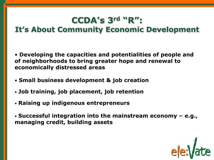 CCDA's 3