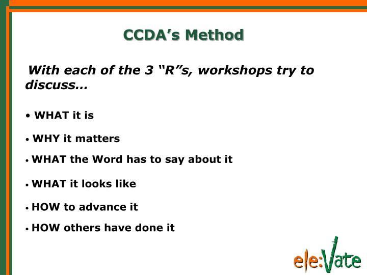 CCDA's Method