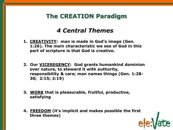 The CREATION Paradigm