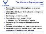 continuous improvement cont