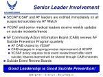 senior leader involvement