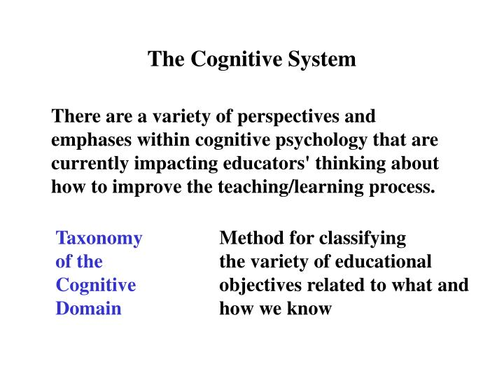 The Cognitive System