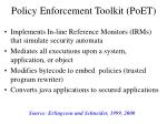 policy enforcement toolkit poet