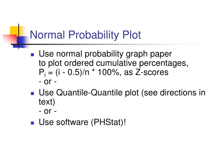 Normal Probability Plot