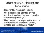 patient safety curriculum and illeris model