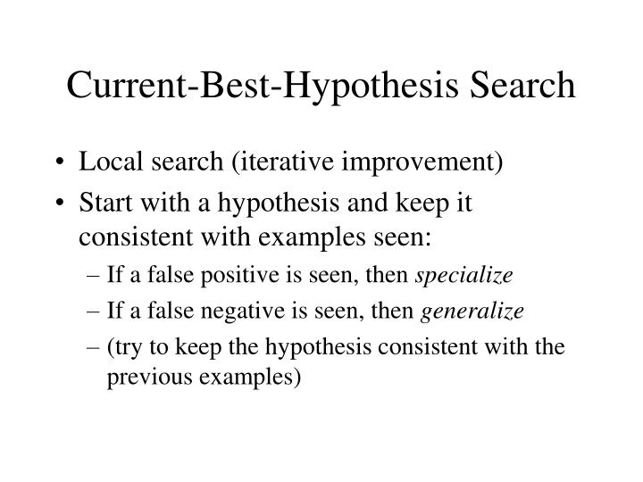Current-Best-Hypothesis Search