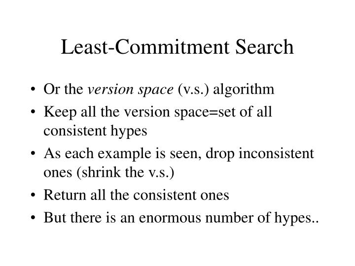 Least-Commitment Search