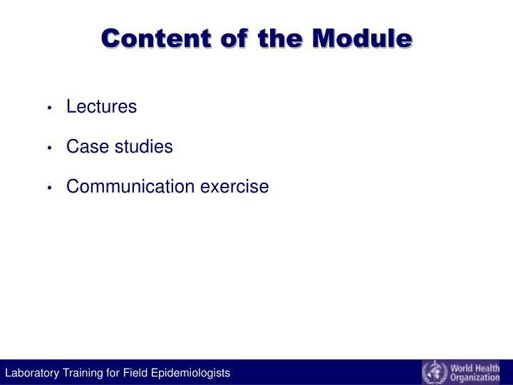 Content of the Module