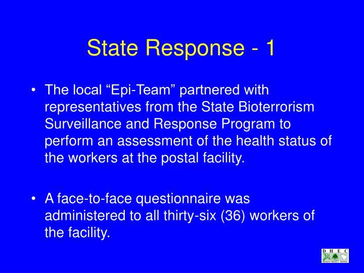 State Response - 1