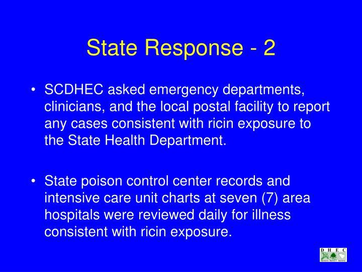 State Response - 2