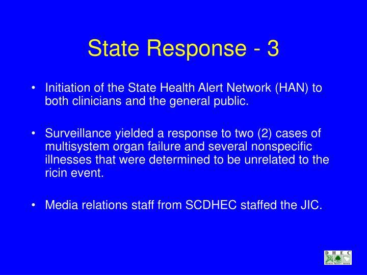 State Response - 3