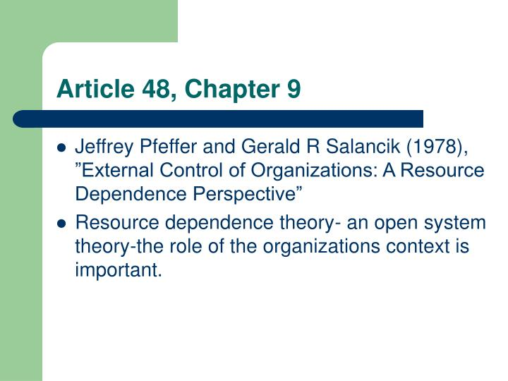 Article 48, Chapter 9