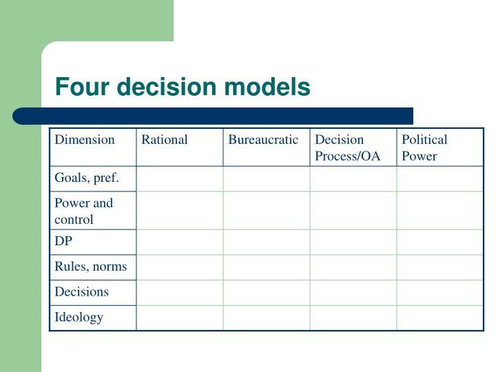 Four decision models