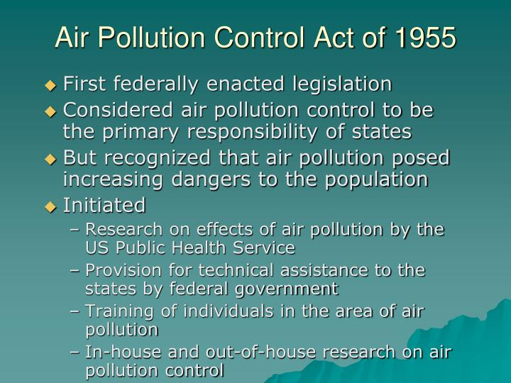 Air Pollution Control Act of 1955