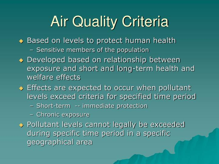 Air Quality Criteria