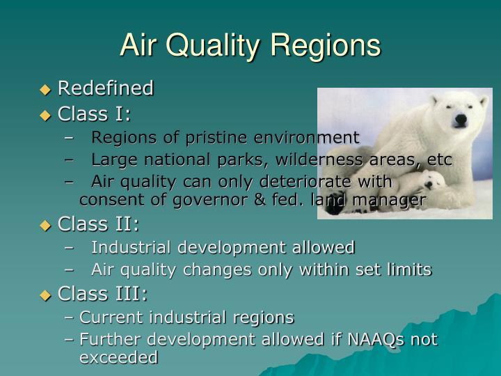 Air Quality Regions