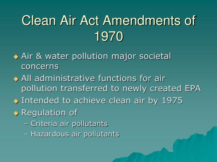 Clean Air Act Amendments of 1970